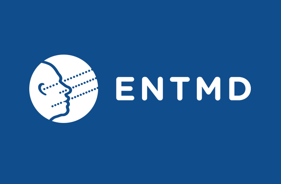 ENTMD logo on blue