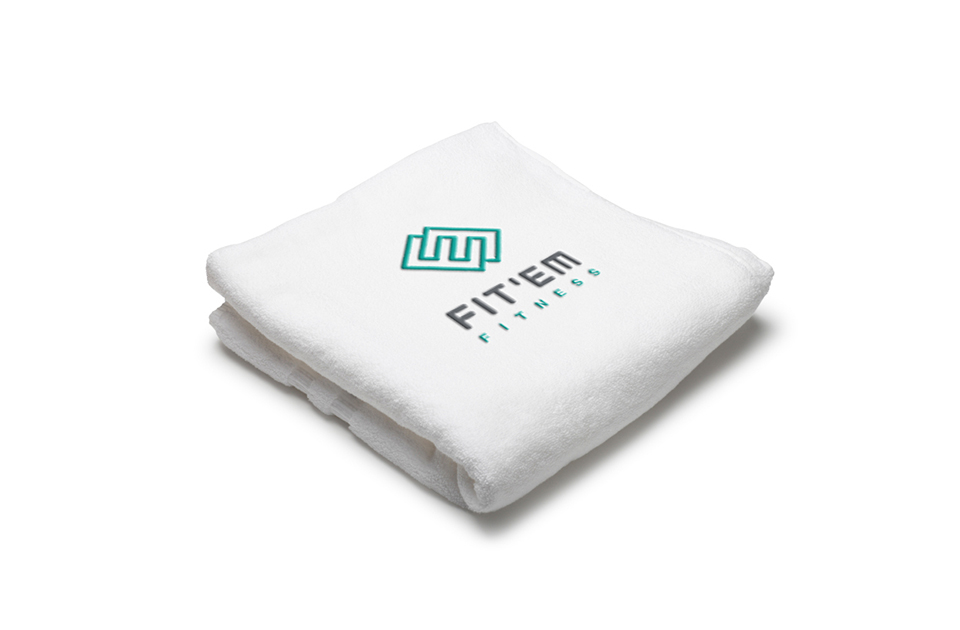 FIT-EM logo on towel